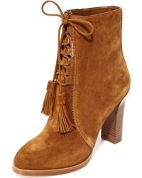 Michael Kors Odile Suede Lace-up Booties - Black