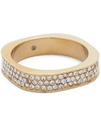 Michael Kors - Pave Band Ring - Lyst
