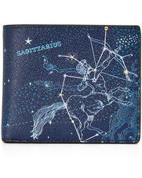 Michael Kors   Sagittarius Leather Astrology Billfold   Lyst