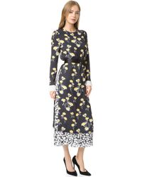 Mother Of Pearl Eleanor Double Layer Silk Dress - Multicolour