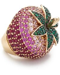 Noir Jewelry - Strawberry Ring - Lyst