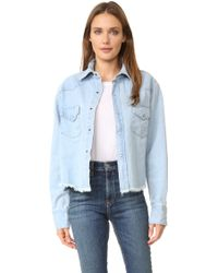 One Teaspoon - Alaskan Cropped Shirt Jacket - Lyst