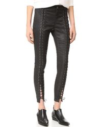 Pam & Gela - Coated Sateen Lace Up Jeans - Lyst