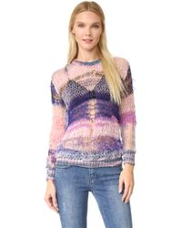 Rodarte Loose Knit Shimmer Sweater - Pink
