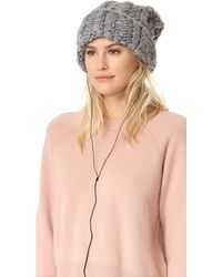 Rebecca Minkoff | Hand Knit Cable Headphone Beanie | Lyst