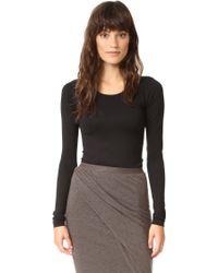 Rick Owens Lilies Long Sleeve Bodysuit - Black