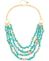 "Sam Edelman - Layered Nugget Necklace 16"" - Lyst"