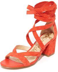 Sam Edelman - Sheri Suede City Sandals - Lyst