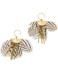 Serefina - Zebra Feather Earrings - Lyst
