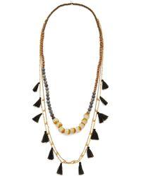 Serefina - Layered Tassel Necklace - Lyst