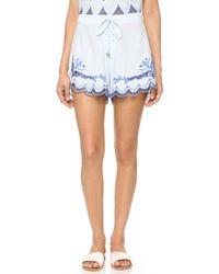 Somedays Lovin - Azul Cutwork Tie Shorts - Lyst