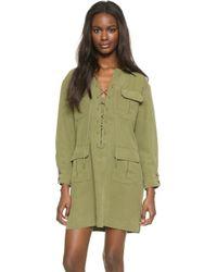 Smythe Tunic Dress - Green