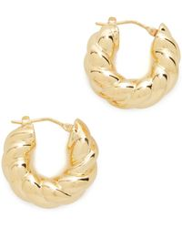 Soave Oro - Graduated Bold Twist Earrings - Lyst