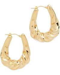 Soave Oro - Graduated Twisted Oval Hoop Earrings - Lyst