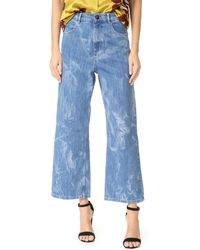 Sonia by Sonia Rykiel - Wide Leg Printed Jeans - Lyst