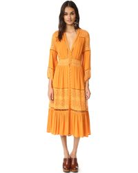 Spell - Olivia Luxe Lace Midi Dress - Lyst