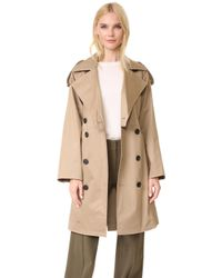 TOME - Cropped Trench Coat - Lyst