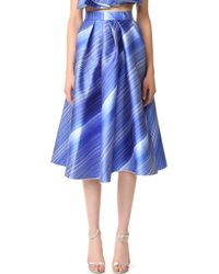 Vika Gazinskaya - Striped A-line Skirt - Lyst