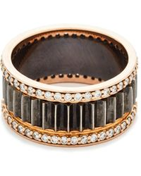 WALTERS FAITH - Clive Thin Diamond Fluted Band Ring - Lyst