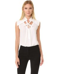 Yigal Azrouël - Centre Front Tie Top - Lyst