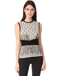 Yigal Azrouël - Sleeveless Embroidered Top - Lyst
