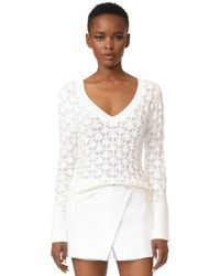 Zac Posen - Long Sleeve Sweater - Lyst