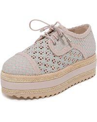 Zimmermann - Weave Platform Oxford Shoes - Lyst