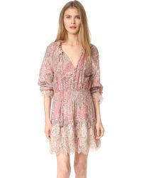 Zimmermann Tulsi Paisley Mini Dress - Pink