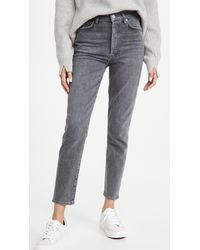 Citizens of Humanity Olivia High Rise Slim Jeans - Gray