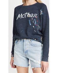 Mother The Hugger Sweatshirt - Blue