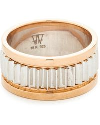 WALTERS FAITH - Clive Small Fluted Band Ring - Lyst