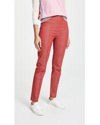 Diane von Furstenberg High Waist Skinny Jeans - Red