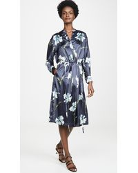Vince - Iris Print Satin Dress - Lyst