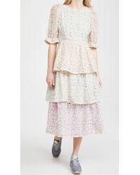 English Factory Multi Color 3 Tier Ruffle Dress - Multicolor