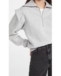FRAME Sporty Zip Sweatshirt - Gray