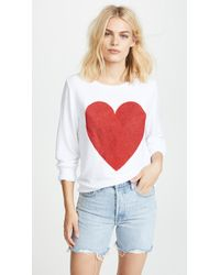 Wildfox - Sparkle Heart Baggy Beach Pullover - Lyst