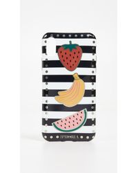 Iphoria - Stripes With Fruits Iphone X Case - Lyst