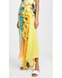 FARM Rio Palm Sunset Sarong - Yellow