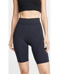 Free People Fp Movement Biker Baby Shorts - Black