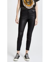 Joe's Jeans - Charlie Ankle Leather Trousers - Lyst