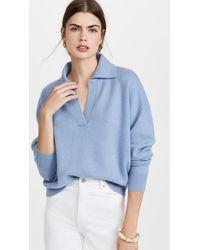 Club Monaco Boiled Collar Cashmere Jumper - Blue