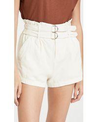 Sea Evelina Belted Shorts - White