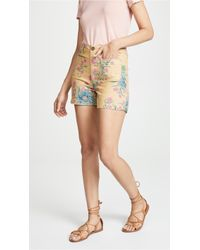 Madewell - Monroe Shorts In Painted Blooms - Lyst
