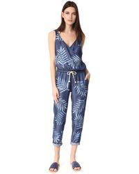 Sol Angeles Palm Jumpsuit - Blue