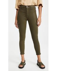 7 For All Mankind Skinny Cargo Trousers - Green