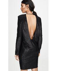 713369fa43 Long Sleeve Mini Dress With Crystals - Black