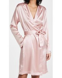 La Perla - Silk Short Robe - Lyst