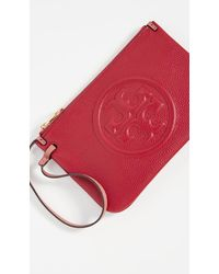 Tory Burch Perry Bombe Wristlet - Red
