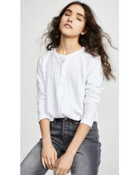 Wilt Shifted Henley Long Sleeve Tee - White