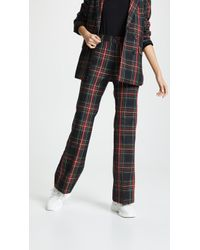 Cynthia Rowley Plaid Wool Trousers - Multicolour